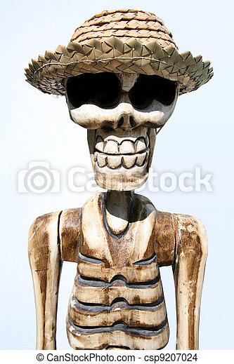 Porter Chapeau Drole Squelette Porter Rigolote Maldives Squelette Fond Chapeau Blanc Canstock