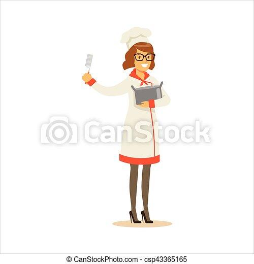 Porter Chef Cuistot Femme Fonctionnement Restaurant Pot