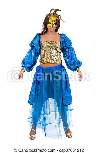 comparer les prix gamme exclusive les ventes en gros porter, danse, masque carnaval, isolé, danseur, girl, blanc