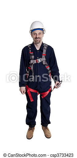 porter, protection, homme, automne - csp3733423