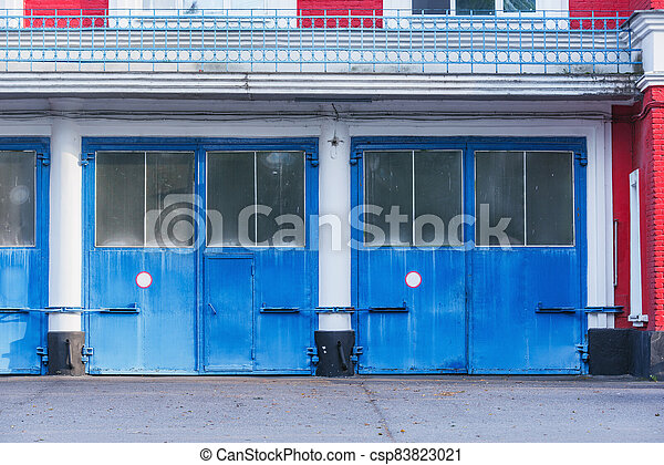 portes, garage, soir, time. - csp83823021