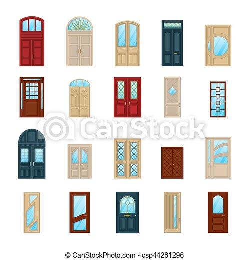 Portes ic nes bois bois ext rieur fa ade ou for Facade de porte