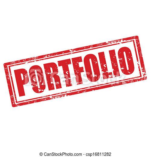 portfolio stamp grunge rubber stamp with word portfolio vector
