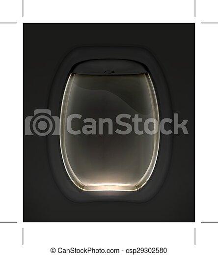 Porthole black illustration - csp29302580