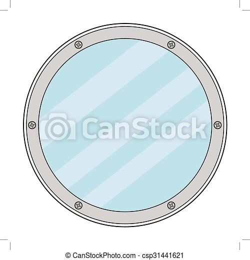 porthole, detail of yacht - csp31441621