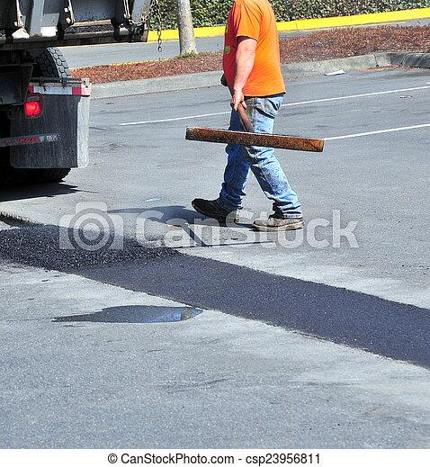 Portholes asphalt repairs. - csp23956811