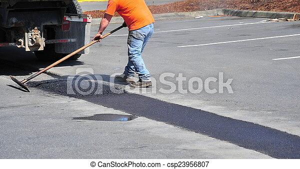 Portholes asphalt repairs. - csp23956807