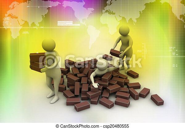 3d Menschen Helfen Dem Anderen Canstock