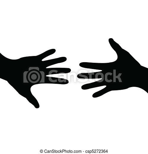 portion, fait, affaire, main - csp5272364