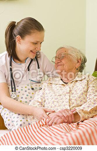 portion, kvinna, sjuk, äldre - csp3220009