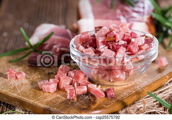 Portion of diced Ham - csp25575792