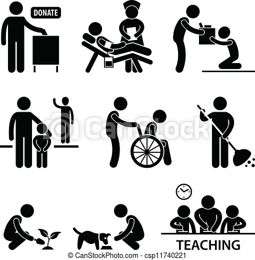 Wohltätigkeitsspenden helfen - csp11740221