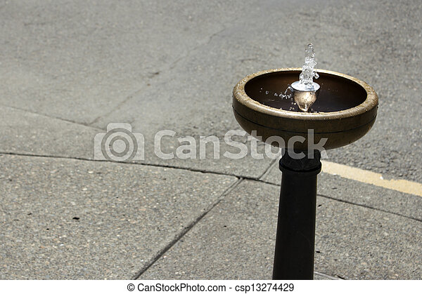 Portland Drinking Water Fountain - csp13274429