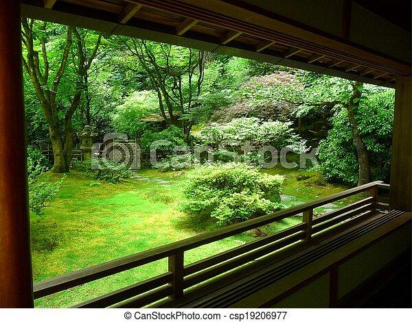 Portland Japanese Garden, Oregon - csp19206977