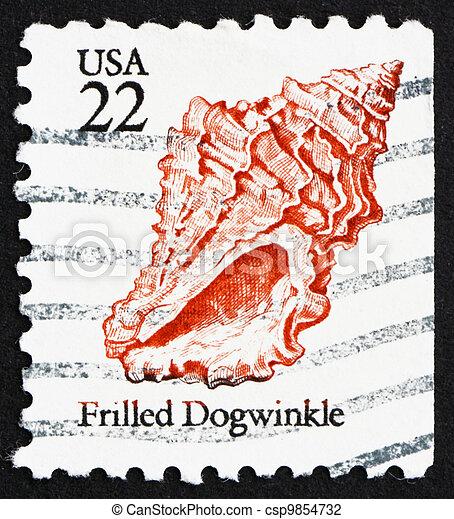 porto 1985 usa briefmarke seashell frilled dogwinkle vereint seashell usa briefmarke. Black Bedroom Furniture Sets. Home Design Ideas
