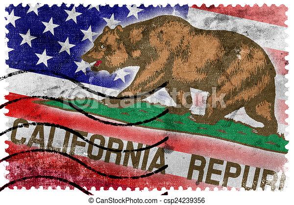 porto altes usa briefmarke zustand markierungsfahne kalifornien. Black Bedroom Furniture Sets. Home Design Ideas