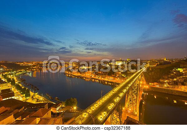 Porto at a summer night - csp32367188