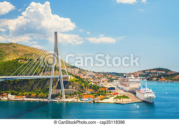 porto , croatia., dubrovnik., ansicht - csp35118396