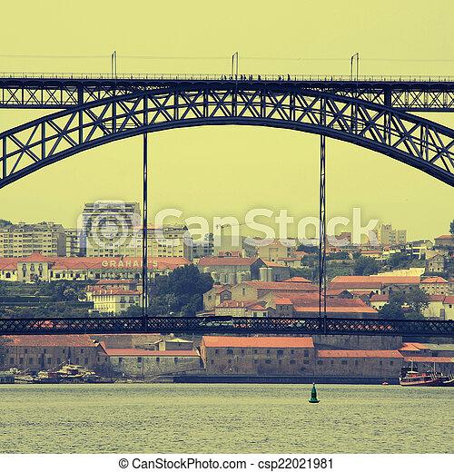 porto, portugal, udsigter - csp22021981