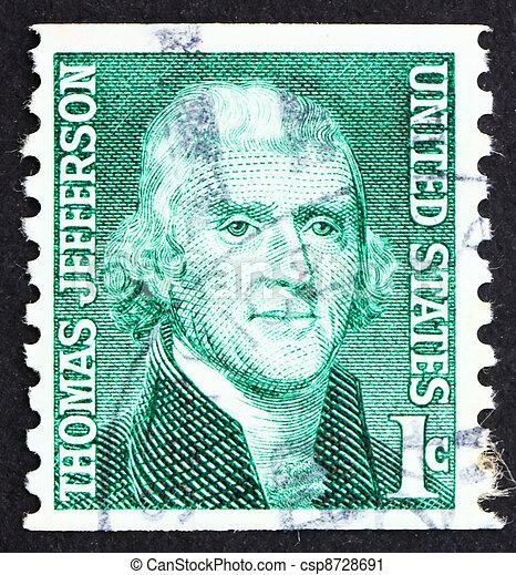 Porto Thomas 1968 Usa Briefmarke Jefferson
