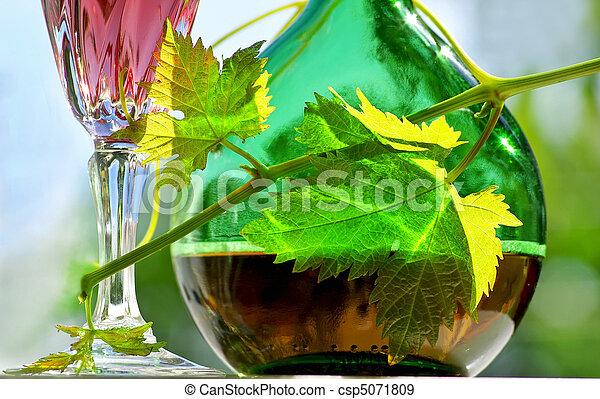 portoghese, vino., rosa - csp5071809