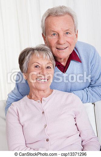 porträt, ältere paare, glücklich - csp13371296