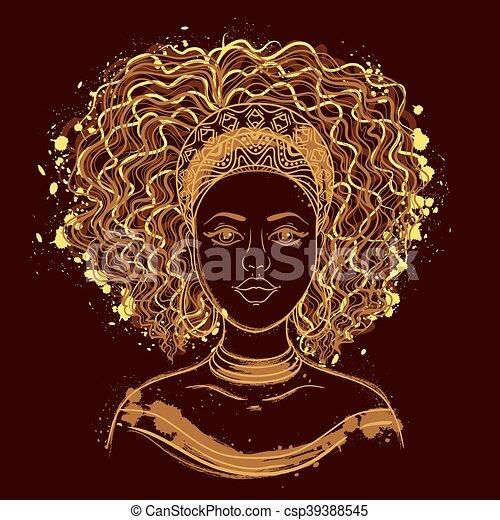 Portrait einer Afrikanerin. - csp39388545