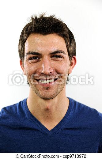porträt, mann, junger, beiläufig - csp9713972