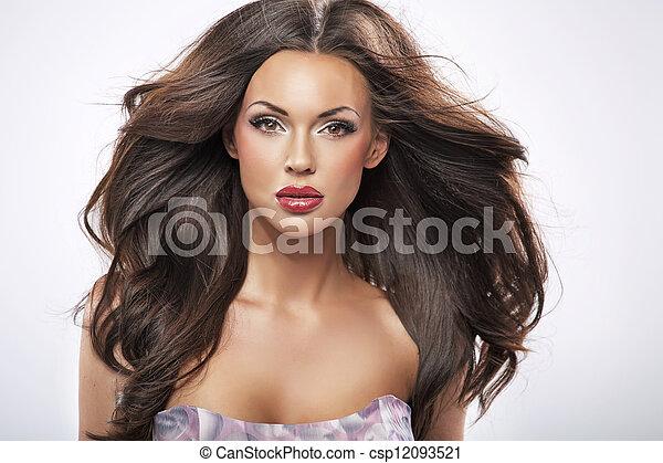 porträt, perfekt, weibliche schönheit - csp12093521