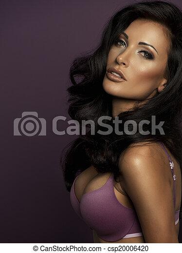 porträt, perfekt, weibliche schönheit - csp20006420