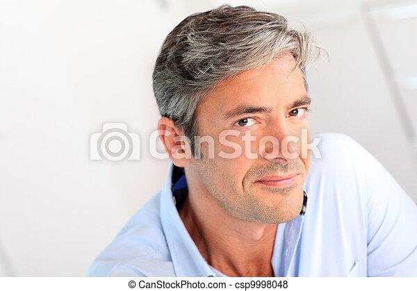 portræt, mand, 40-year-old, pæn - csp9998048