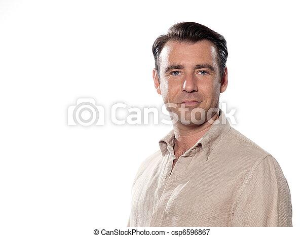 portræt, pæn, mand - csp6596867