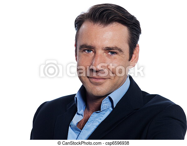 portræt, pæn, mand, forretningsmand - csp6596938