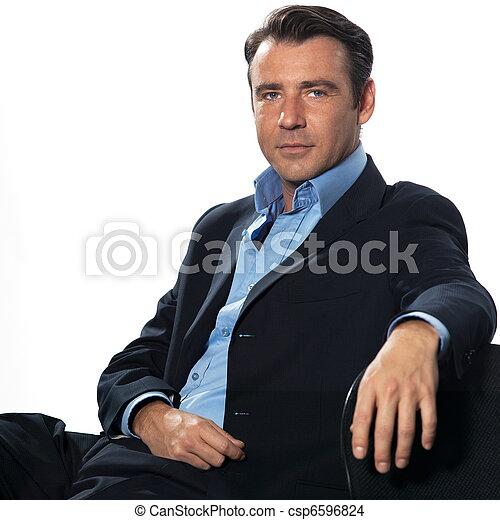 portræt, pæn, mand, forretningsmand - csp6596824