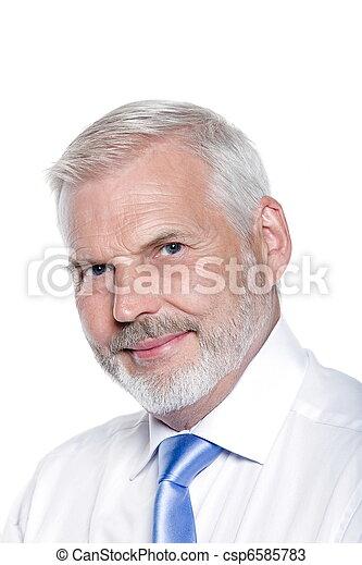 portræt, senior, pæn, smile mand - csp6585783