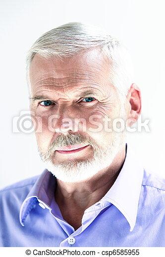 portræt, senior, smile mand - csp6585955