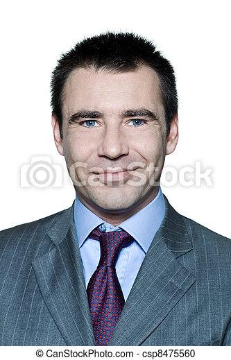 portræt, smil, pæn, closeup, mand - csp8475560