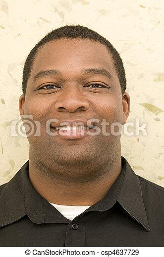 portré, amerikai, fiatal, afrikai - csp4637729