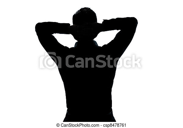 portré, kifeszítő, árnykép, ember, maradék - csp8478761