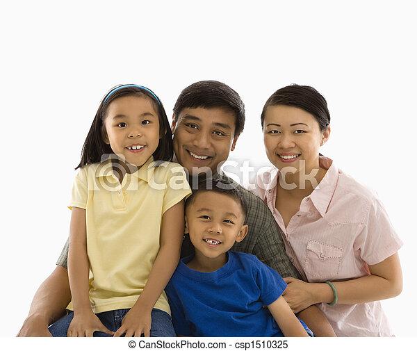 portrait., アジア 家族 - csp1510325