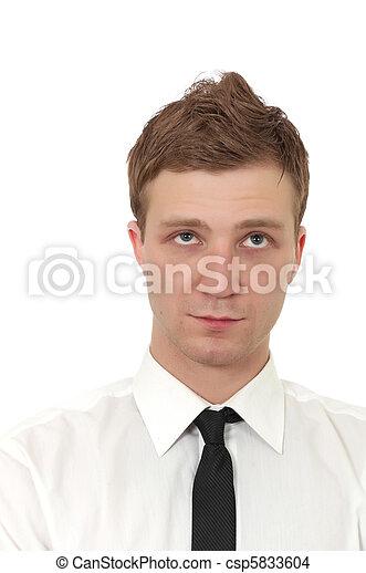 portrait, beau, jeune homme - csp5833604
