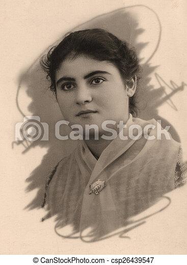 Portrait beautiful armenian girl - csp26439547