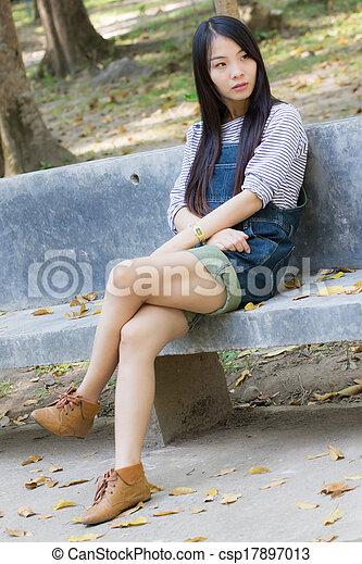 Portrait Beautiful asian woman - csp17897013