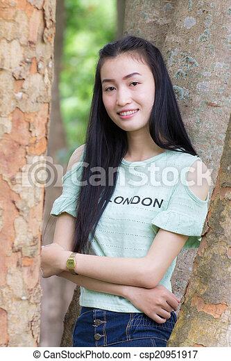 Portrait Beautiful asian woman - csp20951917