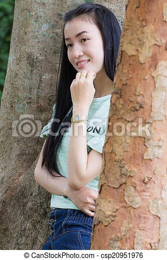 Portrait Beautiful asian woman - csp20951976