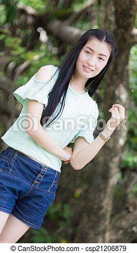 Portrait Beautiful asian woman - csp21206879