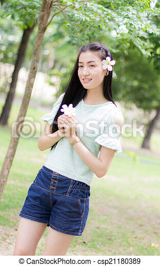 Portrait Beautiful asian woman - csp21180389