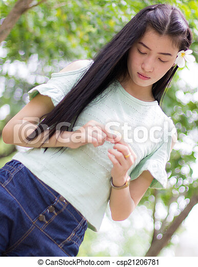 Portrait Beautiful asian woman - csp21206781