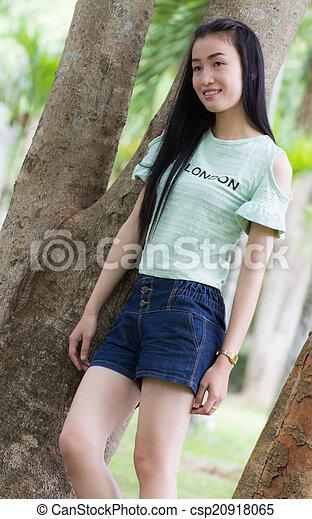 Portrait Beautiful asian woman - csp20918065