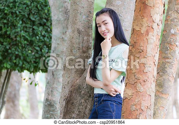 Portrait Beautiful asian woman - csp20951864